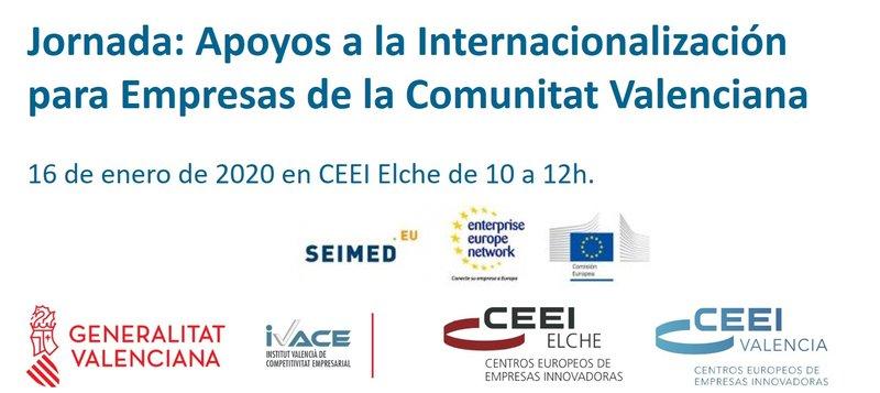 Inscríbete a las jornada de apoyo a la Internacionalización para empresas CV