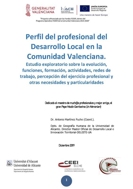 Análisis para la definición de las competencias del perfil profesional de un Agente de Desarrollo Local.