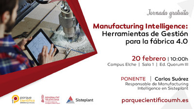 La jornada estará a cargo de Carlos Suarez de Frutos, Business development engineer y Responsable de Manufacturing Intelligence en Sisteplant