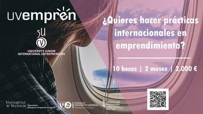 10 becas de 2.000 € para realizar prácticas  internacionales en emprendimiento