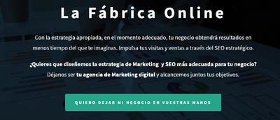 Servicios de Marketing Digital. La fabrica online