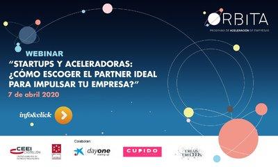 """Webinar: """"Startups y Aceleradoras: ¿Cómo escoger el partner ideal para impulsar tu empresa?"""""""