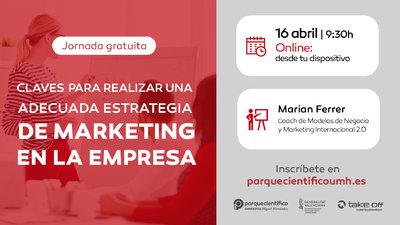 La sesión estará a cargo de Marian Ferrer, coach de Modelos de Negocio y Marketing Internacional 2.0