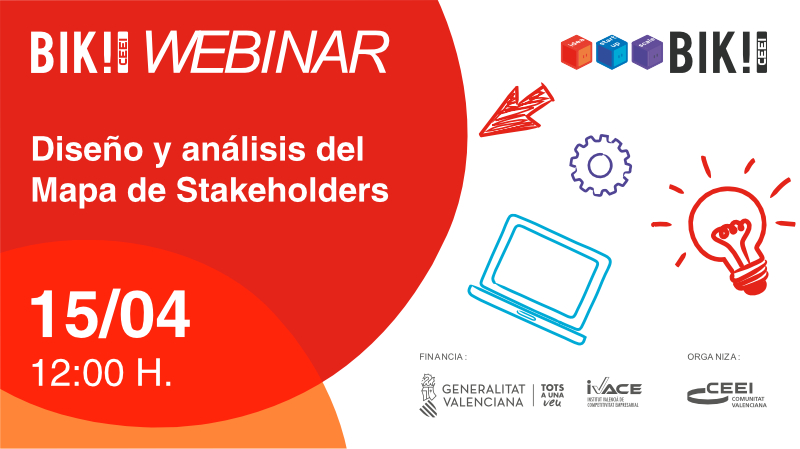 ¡En una hora comenzamos con el Webinar Diseño y análisis del Mapa de Stakeholders!