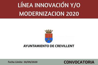 Línea Innovación y/o modernización 2020