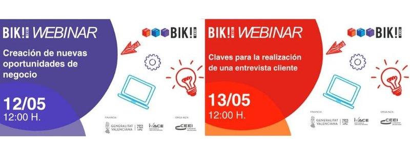 ¡Te invitamos a los próximos webinar BIKCEEI!