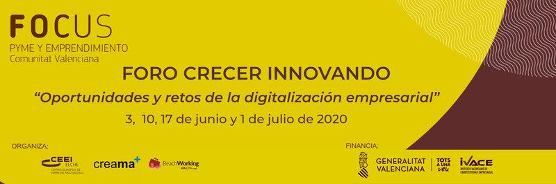 Te invitamos al I Foro Crecer Innovando digital Creama