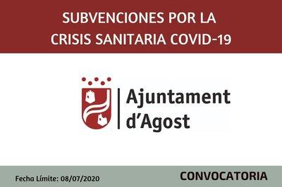 Subvenciones por la Crisis sanitaria Covid-19 Ayuntamiento de Agost