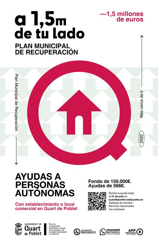 Ayudas directas a Autónomos con local en Quart de Poblet