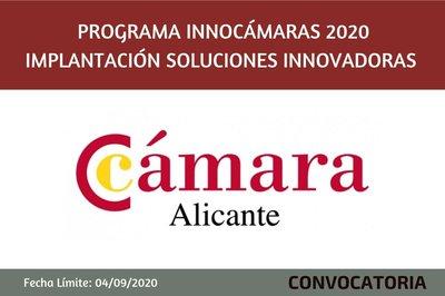 Programa InnoCámaras-Implantación Soluciones Innovadoras 2020