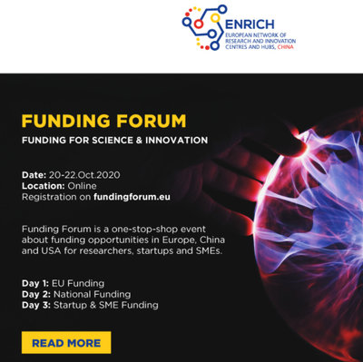 Funding Forum - Funding for Science and Innovation by Enrich in China