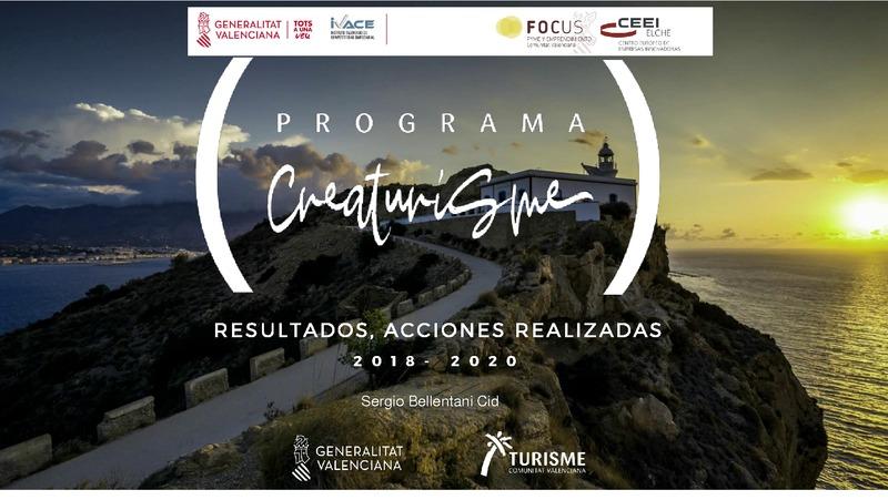 Programa Creaturisme, resultados, acciones realizadas 2018-2020