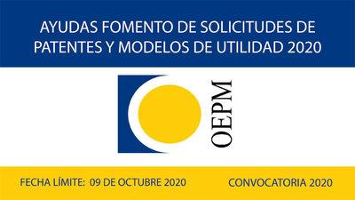 Subvenciones para el fomento de las solicitudes de patentes y modelos de utilidad 2020.
