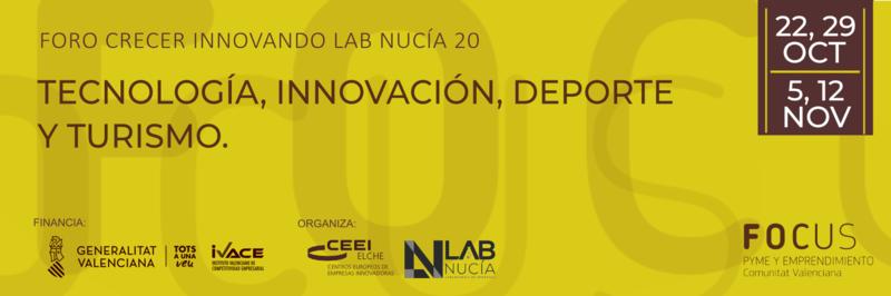 Te invitamos al Foro Crecer Innovando Lab Nucía