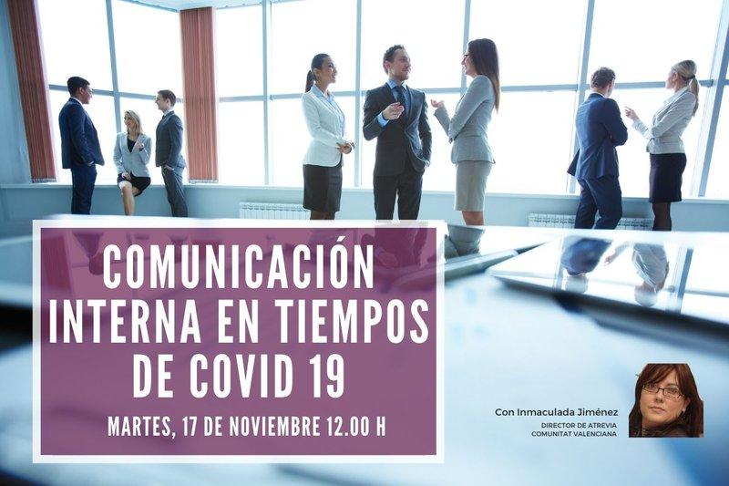 Inscríbete a nuestro webinar sobre Comunicación interna en tiempos de Covid 19