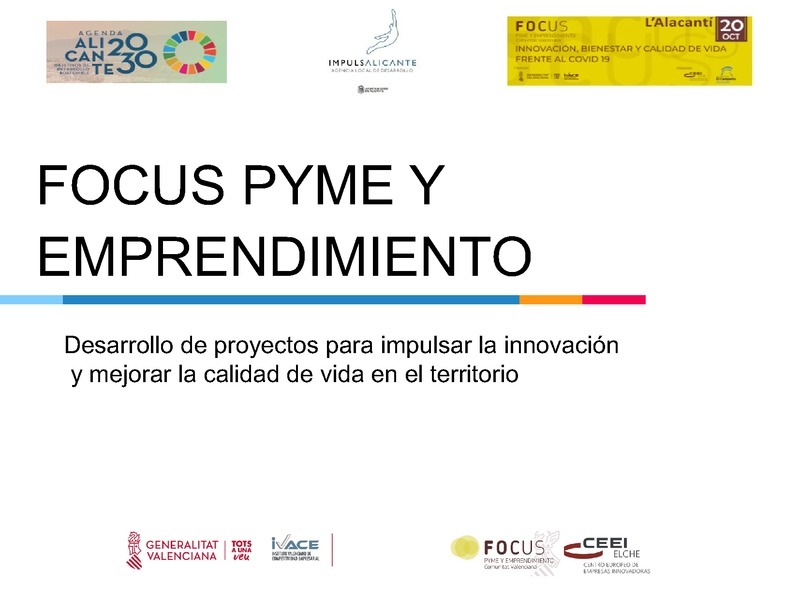 Desarrollo de proyectos para impulsar la innovación - Ayuntamiento de Alicante (Portada)
