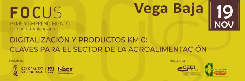 ¡Participa, el próximo 19 de noviembre, en  Focus Pyme Vega Baja!