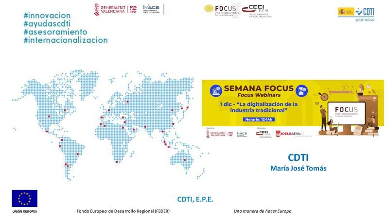 Ponencia CDTI Focus Pyme y Emprendimiento Alto y Medio Vinalopó 2020 (Portada)