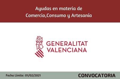 Ayudas en materia de Comercio, Consumo y Artesanía para el ejercicio 2021