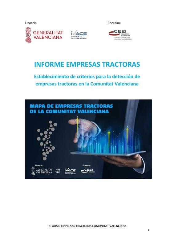 Informe Empresas Tractoras 2020 Comunitat Valenciana (Portada)