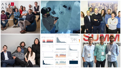 Equipo de LastBasic, dispositivo de Think Outside, integrantes de Wenalyze, miembros de AR Vision, cuadro de mandos de Datavision y fundadores de Logístiko.