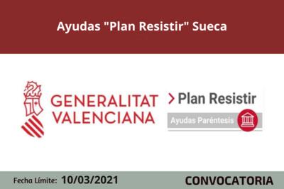 """Ayudas """"Plan Resistir"""" en Sueca"""