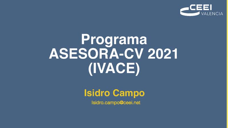 ASESORA CV 2021 Y Sello Pyme Innovadora