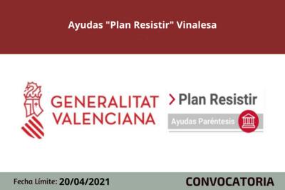 """Ayudas """"Plan Resistir"""" Vinalesa"""