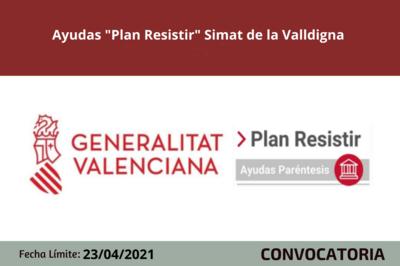 "Ayudas ""Plan Resistir"" Simat de la Valldigna"