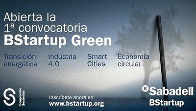 Abierta la 1ª convocatoria BStartup Green
