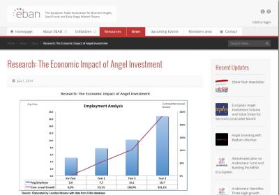 Research: The Economic Impact of Angel Investment