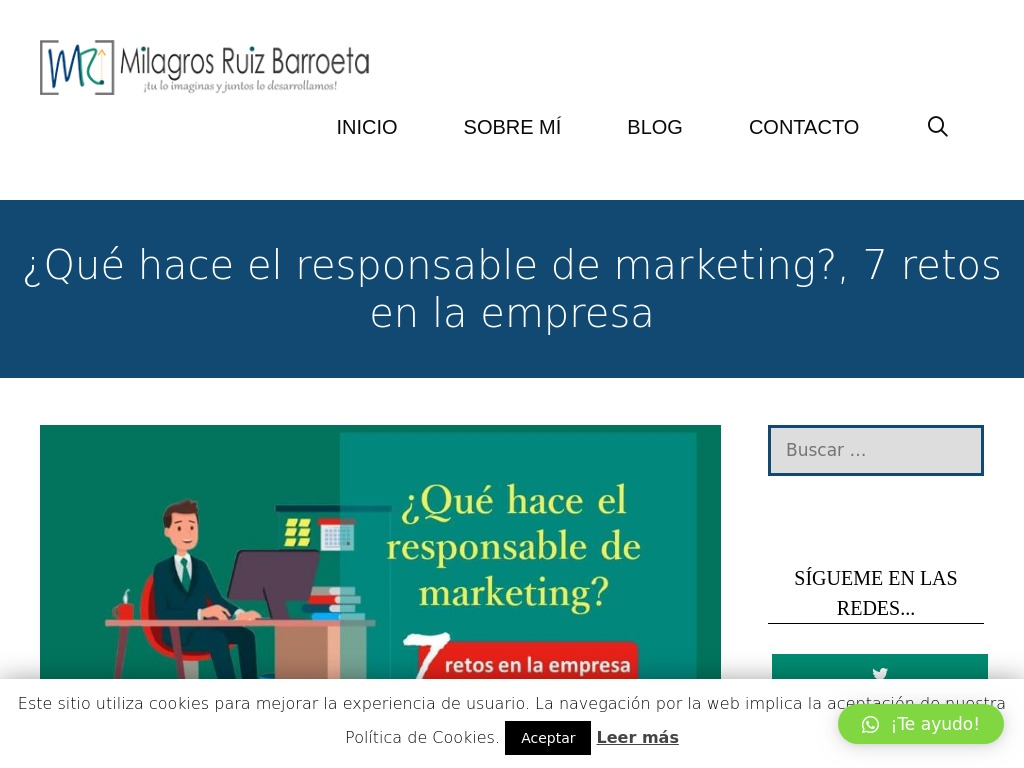 ¿Qué hace el responsable de marketing?, 7 retos en la empresa
